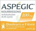 ASPEGIC NOURRISSONS 100 mg, poudre pour solution buvable en sachet-dose à Lesparre-Médoc