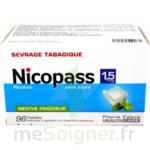 NICOPASS 1,5 mg SANS SUCRE MENTHE FRAICHEUR, pastille édulcorée à l'aspartam et à l'acésulfame potassique à Lesparre-Médoc