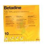 BETADINE TULLE 10 POUR CENT, pansement médicamenteux à Lesparre-Médoc