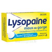 LysopaÏne Comprimés à Sucer Maux De Gorge Sans Sucre 2t/18 à Lesparre-Médoc