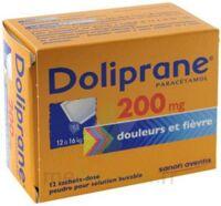 DOLIPRANE 200 mg Poudre pour solution buvable en sachet-dose B/12 à Lesparre-Médoc