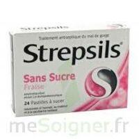 Strepsils Fraise Sans Sucre, Pastille édulcorée à L'isomalt, Au Maltitol Et à La Saccharine Sodique à Lesparre-Médoc