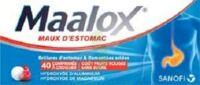 MAALOX MAUX D'ESTOMAC HYDROXYDE D'ALUMINIUM/HYDROXYDE DE MAGNESIUM 400 mg/400 mg SANS SUCRE FRUITS ROUGES, comprimé à croquer édulcoré à la saccharine sodique, au sorbitol et au maltitol à Lesparre-Médoc