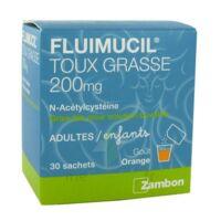 FLUIMUCIL EXPECTORANT ACETYLCYSTEINE 200 mg SANS SUCRE, granulés pour solution buvable en sachet édulcorés à l'aspartam et au sorbitol à Lesparre-Médoc