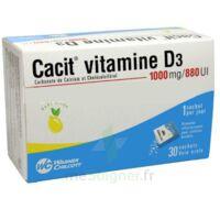 CACIT VITAMINE D3 1000 mg/880 UI, granulés effervescents 90Sach/8g à Lesparre-Médoc