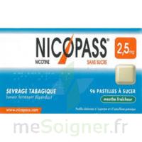 NICOPASS 2,5 mg Past menthe fraîcheur sans sucre Plq/36past à Lesparre-Médoc