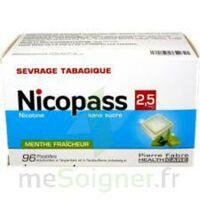 Nicopass 2,5 Mg Pastille Menthe Fraîcheur Sans Sucre Plq/96 à Lesparre-Médoc