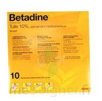 Betadine Tulle 10 % Pans Méd 10x10cm 10sach/1 à Lesparre-Médoc