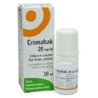 Cromabak 20 Mg/ml, Collyre En Solution à Lesparre-Médoc