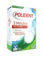 Polident 3 Minutes Comprimés nettoyant appareil dentaire B/66 à Lesparre-Médoc