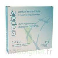 TETRAPLAIE Pansement adhésif stérile 5x7,2cm Pochette/10 à Lesparre-Médoc
